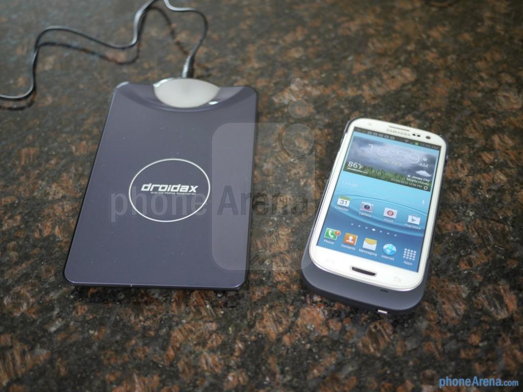 Беспроводное зарядное с кейсом для Galaxy S4, S3
