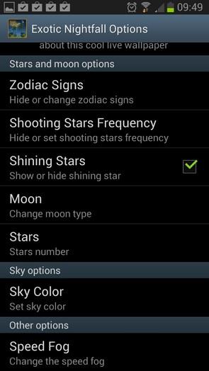 Exotic Nightfall – экзотическая ночка для Samsung Galaxy S4