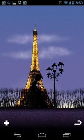 Mon Ami Paris Live Wallpaper - анимированные обои на Galalxy S4