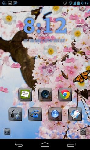 Sakura Pro Live Wallpaper - живые обои на Samsung Galalxy S4