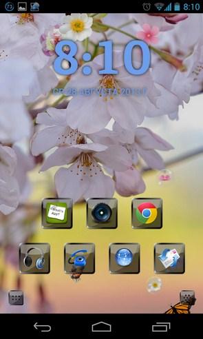 Sakura Pro Live Wallpaper - интерактивные обои на Android
