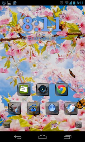 Sakura Pro Live Wallpaper - интерактивные обои на Galalxy S4