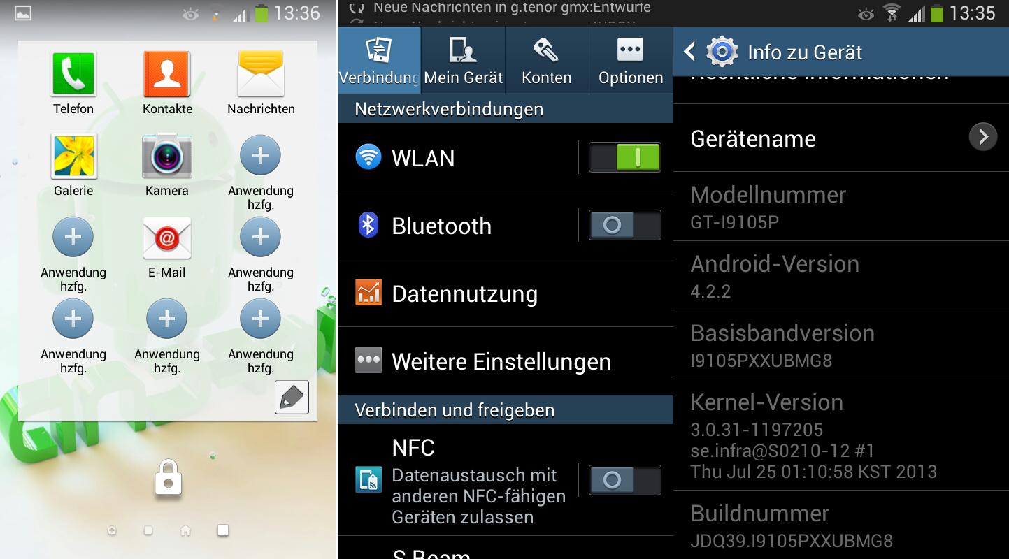 Samsung Galaxy S II Plus получил обновление до Android 4.2.2