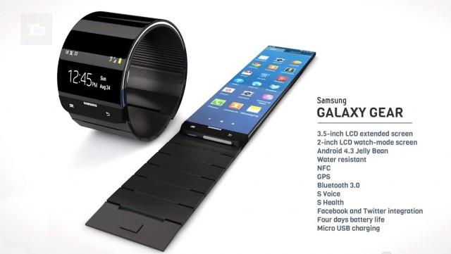 Samsung Galaxy Gear концепт - внешний вид