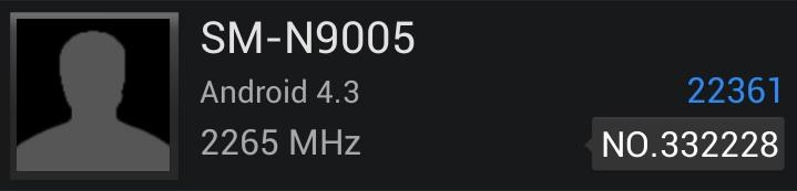 """Galaxy Note III LTE (SM-N9005) """"засветился"""" в AnTuTu"""