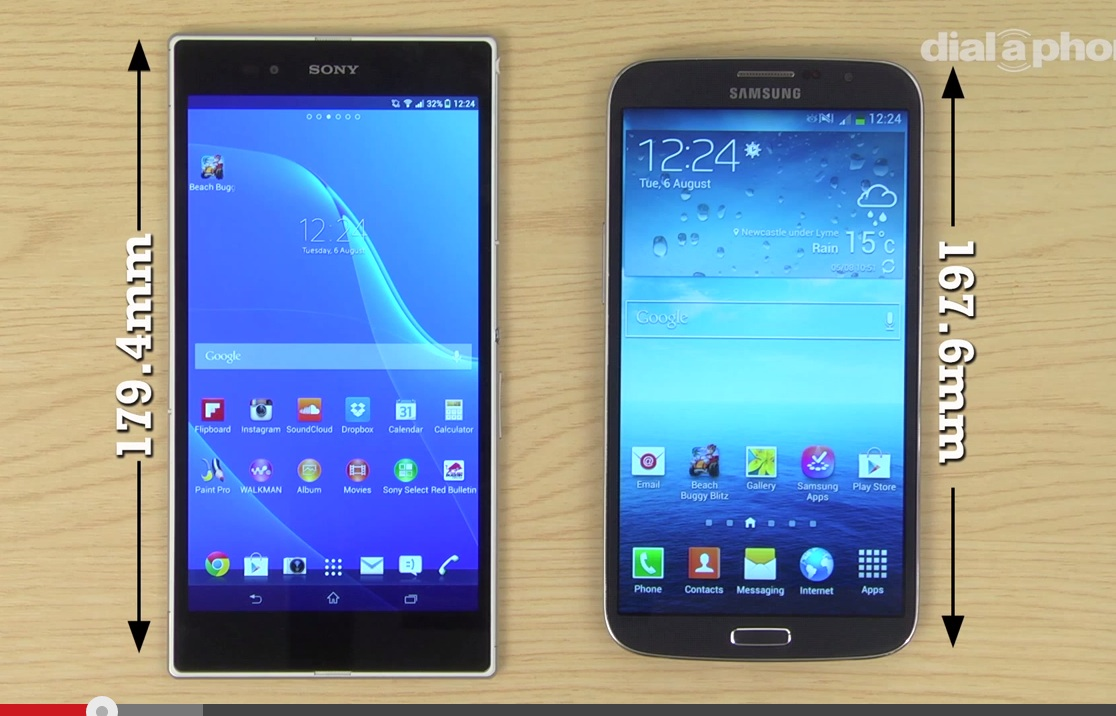 Sony Xperia Z Ultra vs Samsung Galaxy Mega - сравнение ...