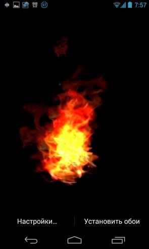 VA Fire Magic Wallpape - живые обои на Android
