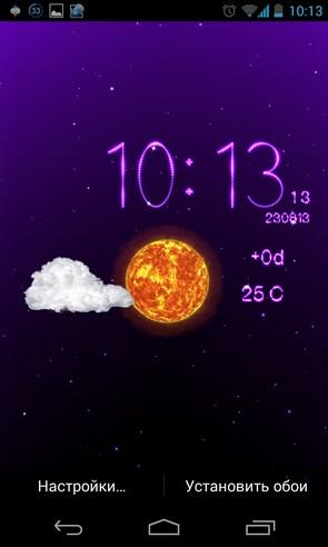 Weather Live Wallpaper - живые обои с погодой на Samsung Galalxy S4