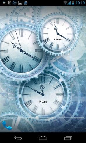 World time clock pack - интерактивные обои на Samsung Galalxy S4