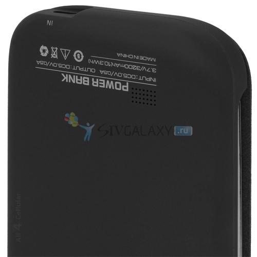 Чехол флип с батареей на Galaxy S4 - нижняя грань