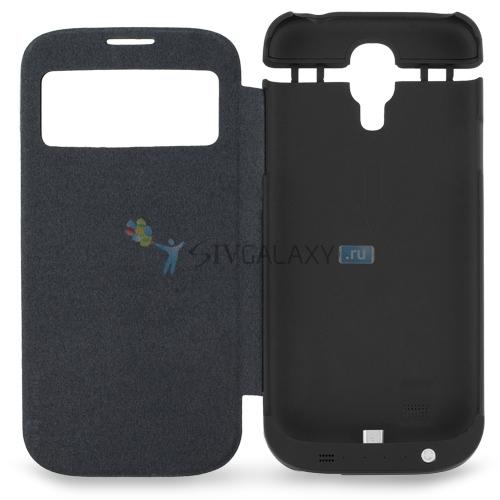 Flip Case с батареей для Samsung Galaxy S4