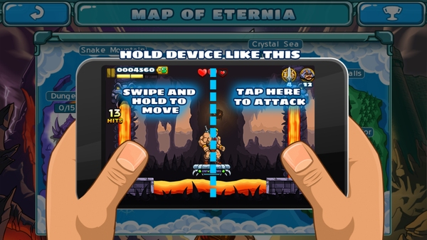 Игра He-Man: The Most Powerful Game для Galaxy S4 - управление