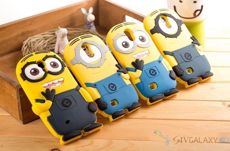 Кейс игрушка по мотивам Гадкий Я для Galaxy S4