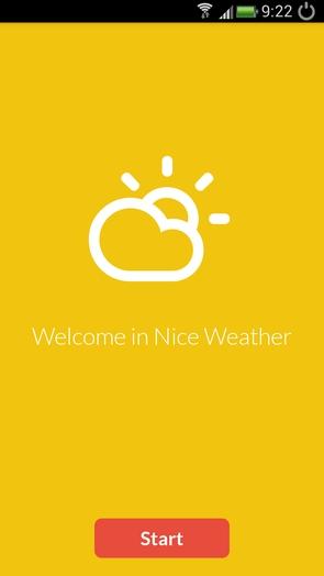 Nice Weather - минималистичная погода