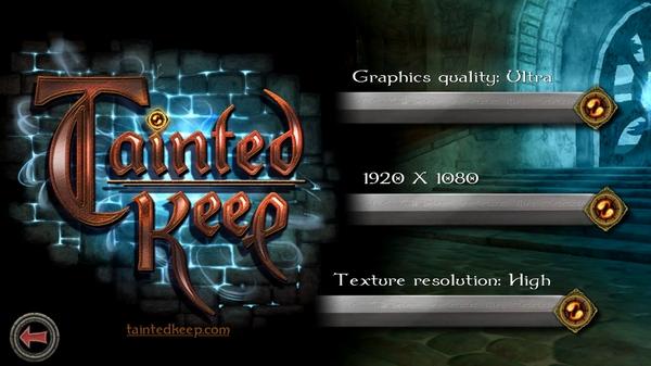 Игра Tainted Keep 3D - настройки графики