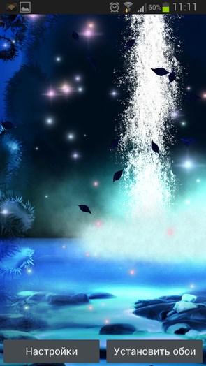 3D Night Waterfall LWP – ночной водопад для Samsung Galaxy S4
