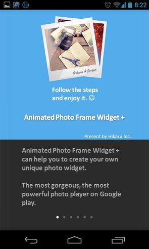 Animated Photo Frame Widget - фоторамка на Samsung Galalxy S4