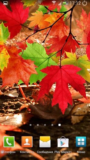 """""""Осенний листопад"""" - живые обои для Galaxy S4 и Note 3"""
