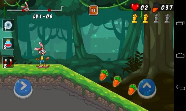 Bunny Skater - игра на смартфоны Галалкси С4