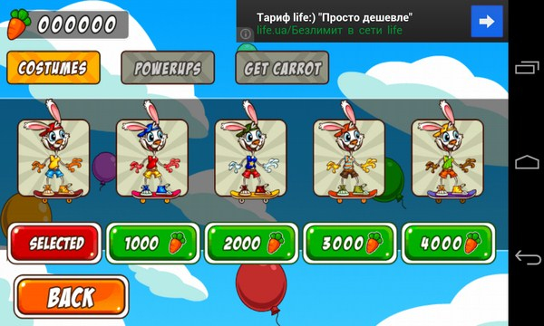 Bunny Skater - аркада на смартфоны Android