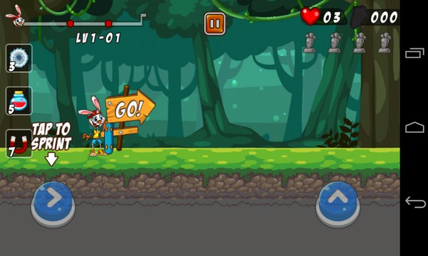 Bunny Skater - аркада на смартфоны андроид
