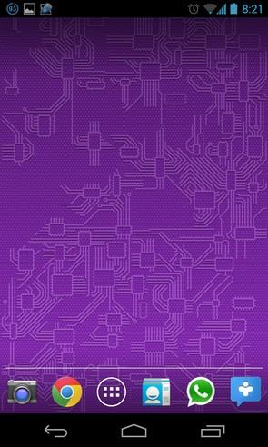 Circuitry 2.0 - живые обои на Samsung Galalxy S4