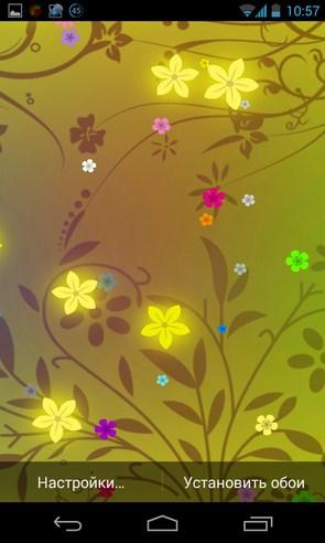 Flowers Live Wallpaper - интерактинвные обои на Android