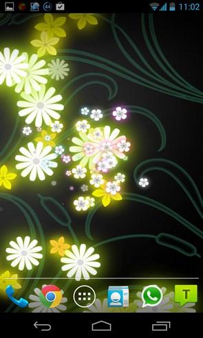Flowers Live Wallpaper - живые обои на Galalxy S4