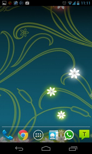 Flowers Live Wallpaper - интерактинвны обои на Samsung Galalxy S4