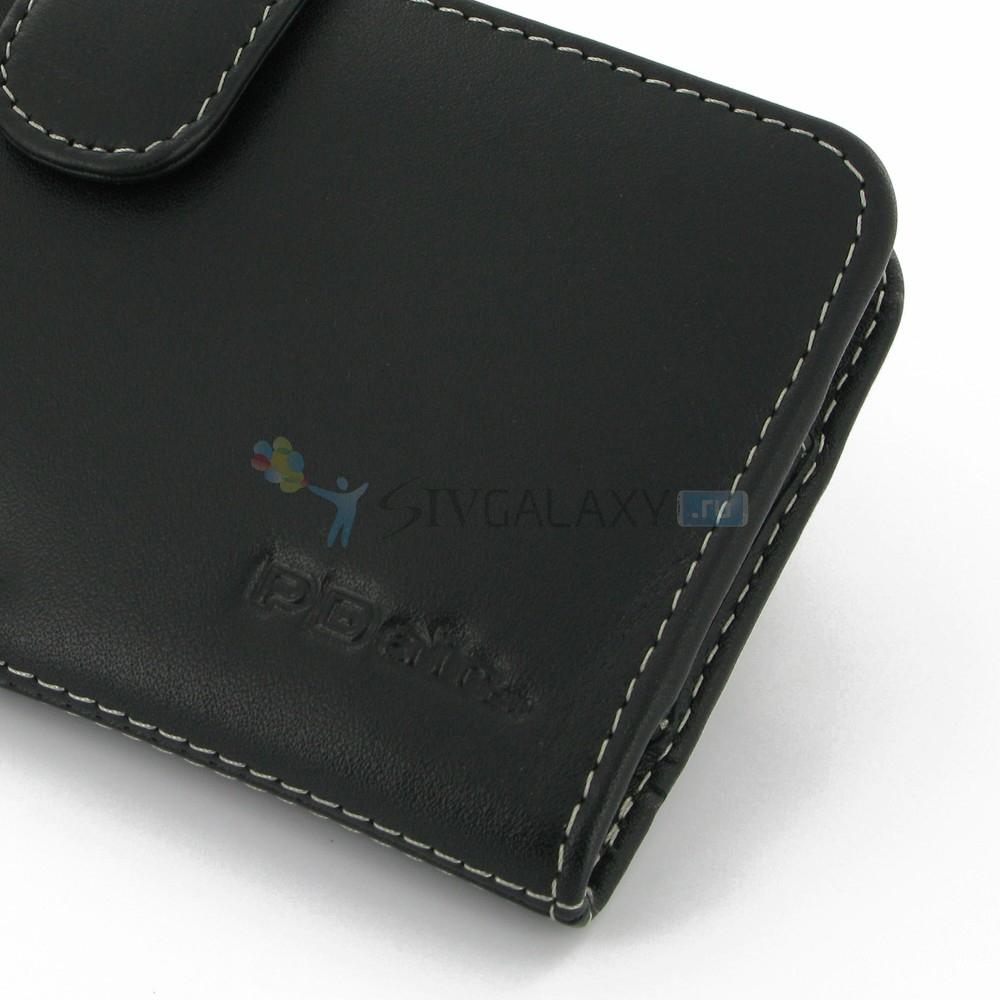 Чехол для Samsung Galaxy Note 3 из черной кожи