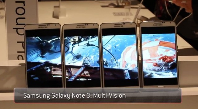 Демонстрация функции Multi Vision на Samsung Galaxy Note 3