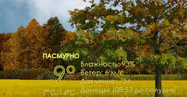 Nature Live Weather - интерактивные обои на Samsung Galaxy S4