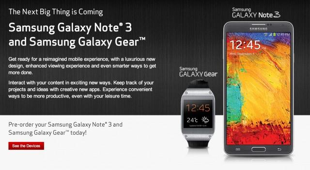 Предварительный заказ Galaxy Note 3 и Galaxy Gear открыт