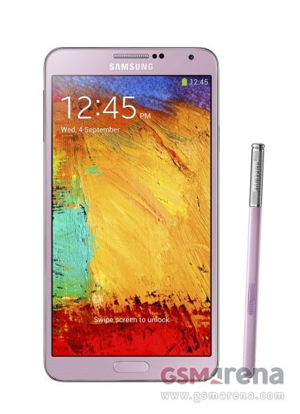 Фотография Samsung Galaxy Note 3 - розовый