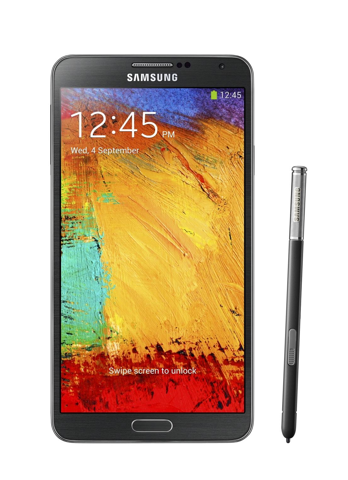 Внешний вид Samsung Galaxy Note III - черный