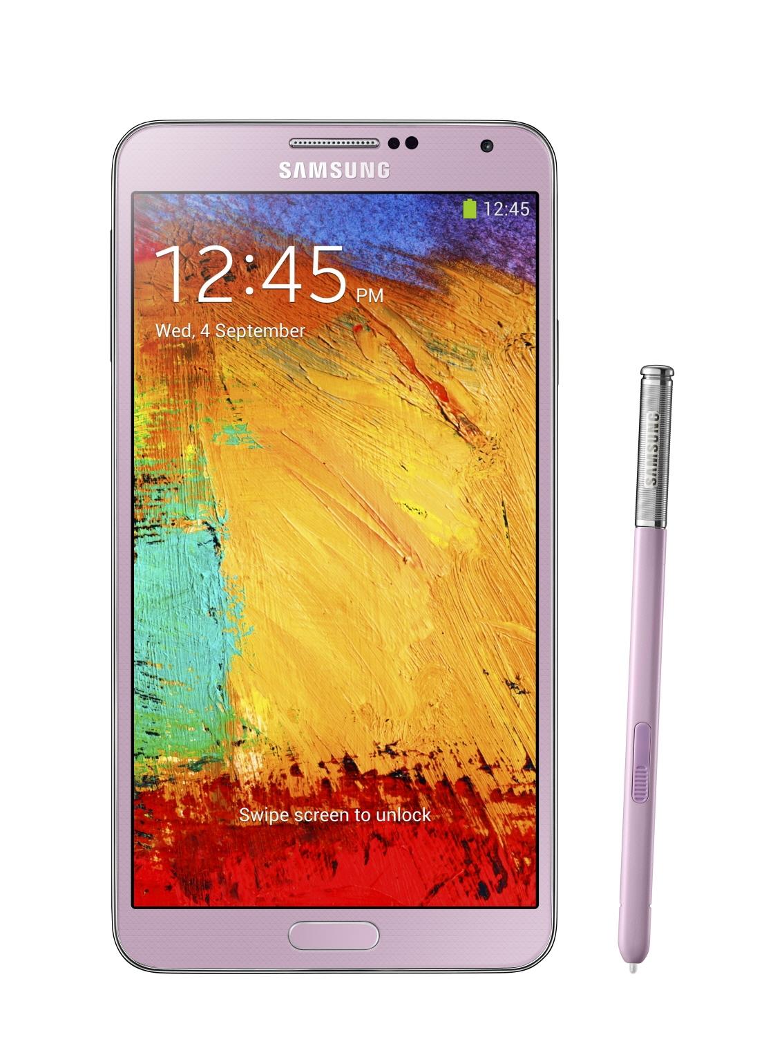 Внешний вид Samsung Galaxy Note III - розовый