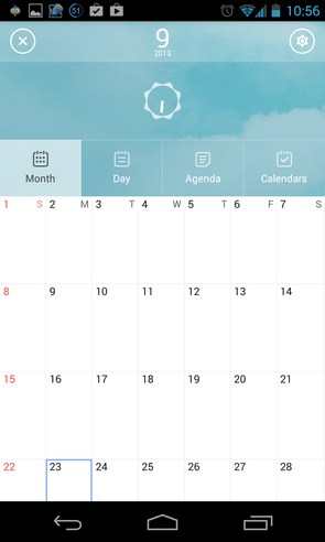 SolCalendar - календарь на смартфоны Galalxy S4