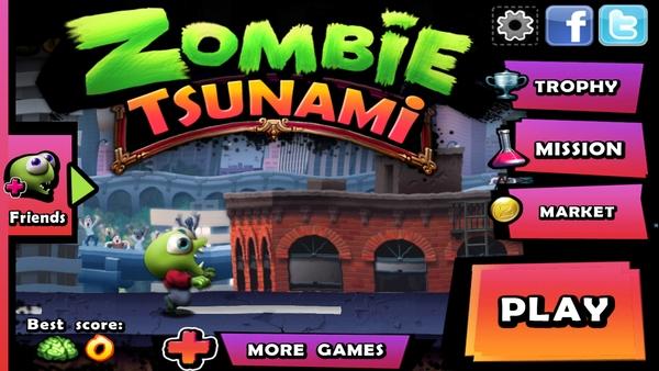 Игра Zombie Tsunami - раннер с кучей зомби