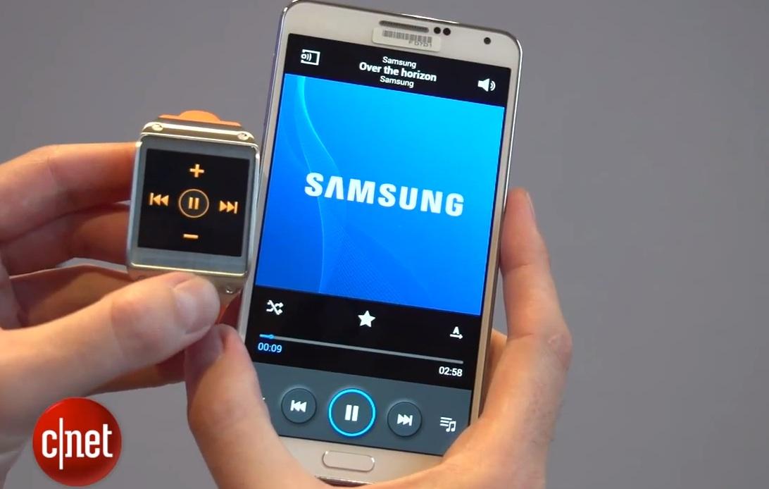 Samsung Galaxy Note 3 и часы Galaxy Gear - управление плеером