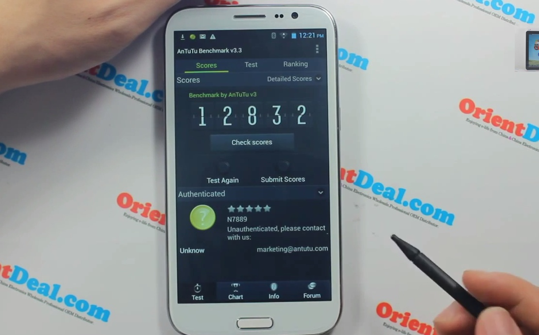 Samsung Galaxy Note III MTK6589 - результат Антуту