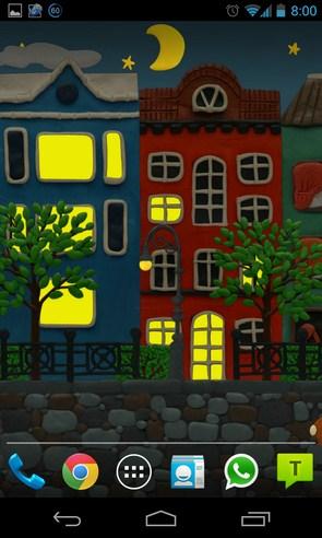 plasticine city - анимированные обои на Galalxy S4
