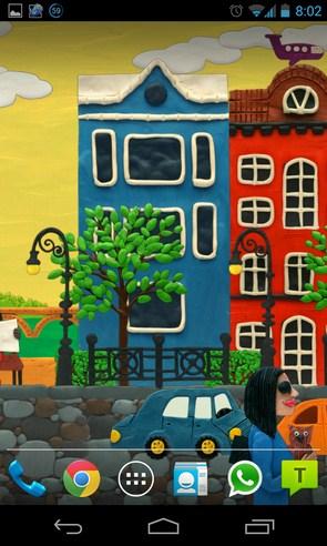 plasticine city - живые обои на Samsung Galalxy S4