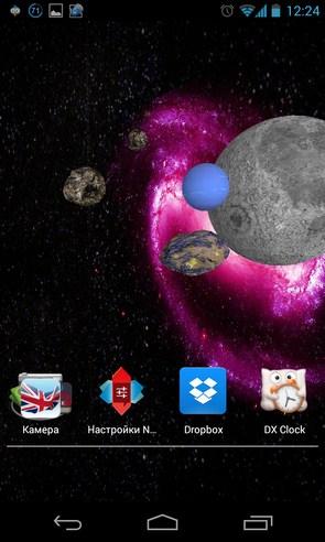 3D Space Live Wallpaper - интерактивные обои на Samsung Galalxy S4