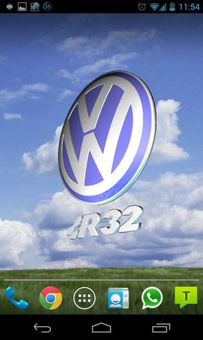 3D VOLKSWAGEN Logo HD LWP - анимированные обои на Galalxy S4