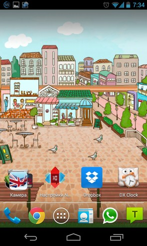 Another town - анимированные обои на Samsung Galaxy S4