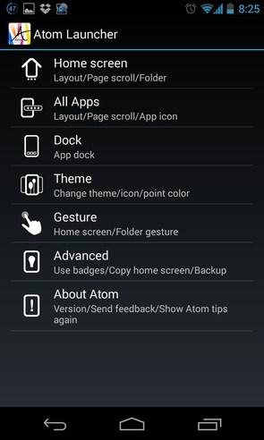 Atom Launcher - программа на Android