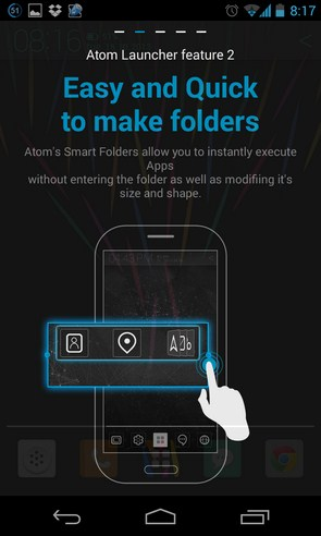 Atom Launcher - лаунчер на Samsung Galaxy S4
