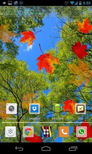 Autumn Maple Live Wallpaper - живые обои на Галакси С4