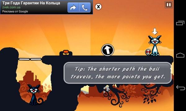 Cat Physics - логическая игра на смартфон Galalxy S4