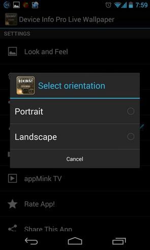 Device info ProClock Wallpaper - живые обои на смартфоны Андроид